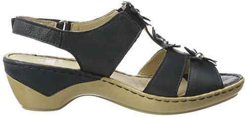 Caprice Damen 28706 Offene Sandalen mit Keilabsatz Blau (OCEAN NAPPA)