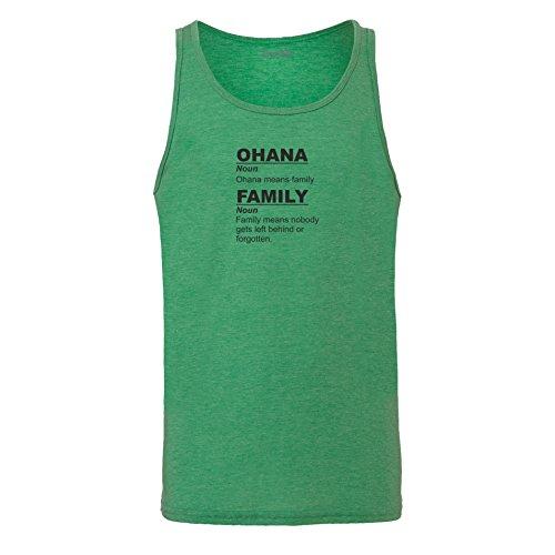 Brand88 - Ohana Means Family, Unisex Jersey Weste Gruen Meliert