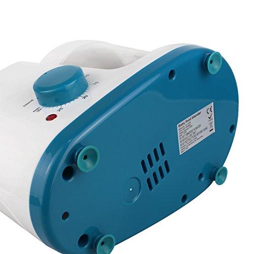 Leogreen - Baby-Küchenmaschine, Mixer für Babynahrung, Weiß/Blau, Funktion: 2 in 1 Dampfgarer und Mixer, Spannung: 220-240 V - 6
