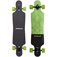 Apollo Longboard Vanua Special Edition Tabla Completa con rodamiento de bolas High Speed ABEC incl. Skate T-Tool, Drop Through Freeride Skate Cruiser Boards