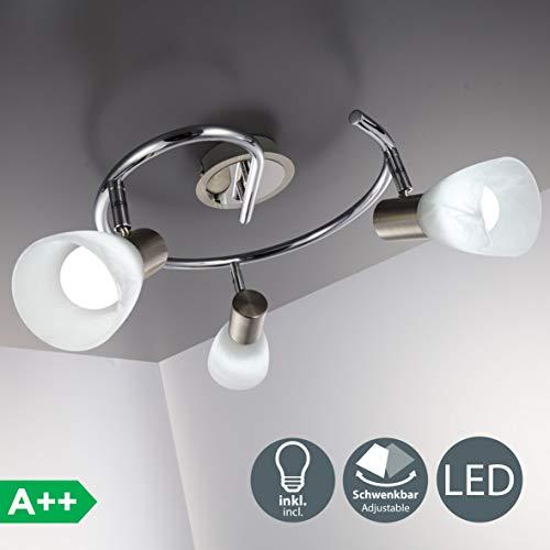 Lámpara techo moderna focos giratorios incl. 3 x