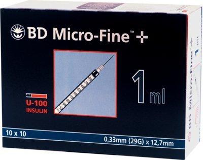 BD MICRO FINE+ U 100 Ins.Spr. 12,7 mm, 100X1 ml
