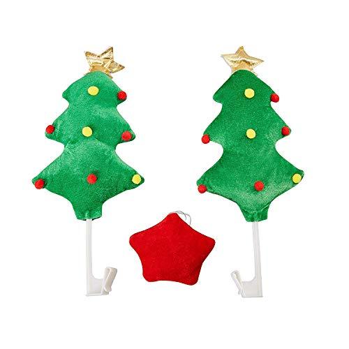 Weihnachts-Auto-Dekorationen Weihnachtsbaum-Auto-Kostüm-Kit Fahrzeug-Fenster-Verzierungen Auto-Außenzubehör Weihnachtsbäume für Automobil-Geschenke (Kit Auto Weihnachten Dekoration)
