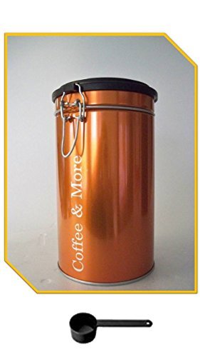 Vorratsdose KAFFEEDOSE orange metallic