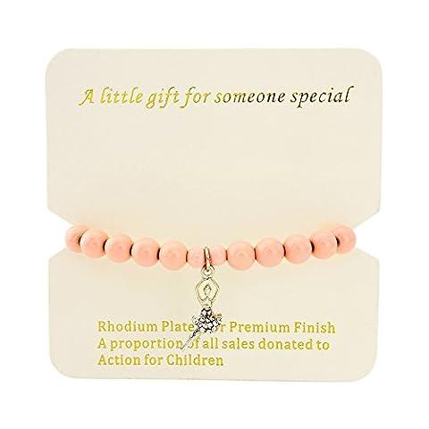 Children's ballerina necklace and bracelet - For girls 4-7year
