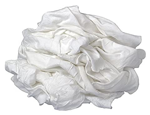 Buffalo Industries (60200) White Bleached Knit Cloth Rags - 1 lb. bag by Buffalo Industries