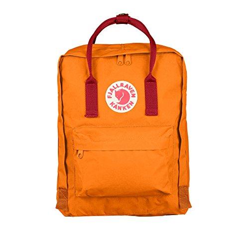 Imagen de fjällräven kånken   para portátiles y netbooks naranja, rojo, vinylon, front pocket, cremallera