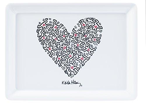 Platex 91112720622 Keith Haring Plateau Décor Love Mélamine 27 x 20 x 1 cm