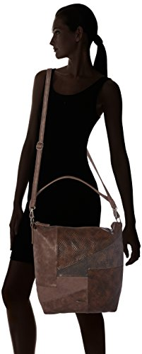 Tamaris - Bimba Hobo Bag, Borse a spalla Donna Marrone (Dark Brown Comb)