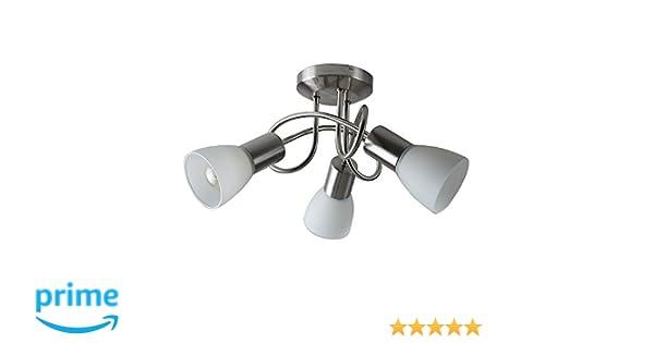 Plafoniere Minisun : Minisun lampada da soffitto moderna e rotonda con 3 luci spot una