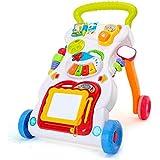 4 في 1 الأطفال الموسيقى ووكر الطفل تعلم المشي الوقوف عربة اللعب الرسم مجلس الموسيقى أداة صغيرة الهاتف