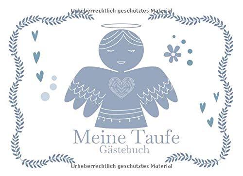 Meine Taufe Gästebuch: Gästebuch für die Taufe I Erinnerung I Geschenkidee I Andenken I kleiner Engel