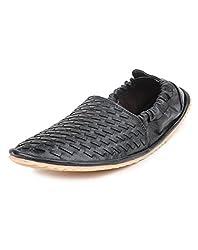 Do Bhai ST-605 Fashionable & Stylish Loafers for Men (UK7, Black)