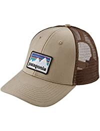 Patagonia Gorra Trucker Shop Sticker Patch LoPro Hats - Kaki