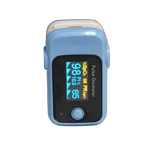 FFNNG Saturimetro da dito Pulsossimetro portatile con display OLED Monitoraggio anti-interferenze Misuratore del tasso di ossigeno nel sangue Smart Power Saving Medical Home