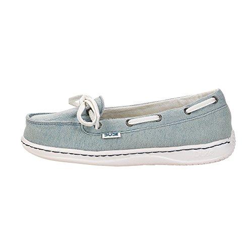 Dude Shoes Stonewashed Jeans Classique de Moka Féminin