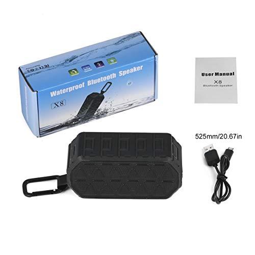 Robuster, tragbarer HiFi-Bluetooth-Lautsprecher für den Außenbereich mit Bluetooth V4.2 und verbessertem Bass Wasserdichtes IPX6 mit 5W Dual-Driver