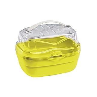 Ferplast Aladino Hamster Carrier, Small, 20 x 16 x 13.5 cm,Transparent/Yellow 41bYQ7B2oPL