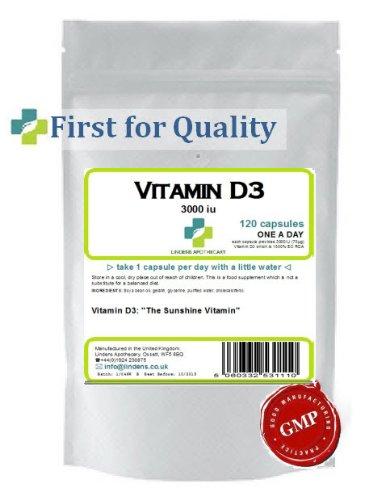 La vitamine D (D3) 3000 IU - 120 comprimés