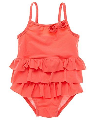 Charmo Baby Schwimmanzug Mädchen Einteiler Baby Badeanzug Badebekleidung Baby Orange 6-12 Monate