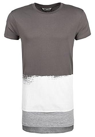 T Shirt Homme Oversize - 98-86 T-shirt homme à rayures oversize |