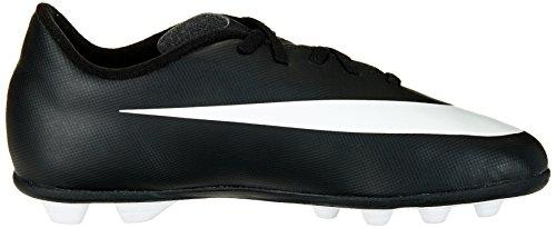 Nike  JR Bravata FG-R, chaussures de football garçon Multicolour - Black / Blanco / Blanco (Black / White-White)