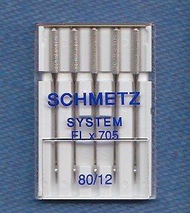 Schmetz Nähmaschinennadeln für Overlockmaschinen ELx705 5xStärke 80