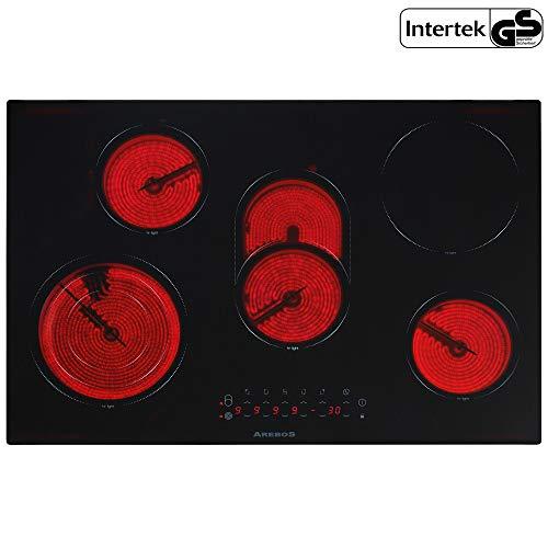 Plaque de cuisson electrique en vitrocéramique avec 5 plaques Table de cuisson