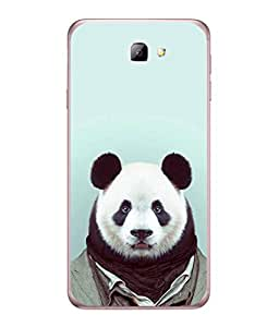Samsung Galaxy J5 Prime Back Cover Panda Bear With A Black Scarf Design From FUSON