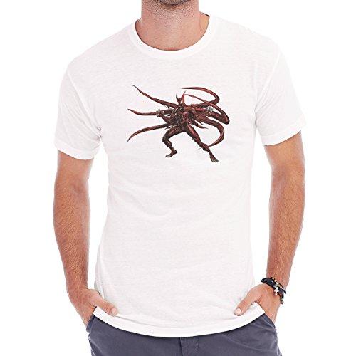 Spiderman Peter Parker Super Heroe Venom Red Herren T-Shirt Weiß