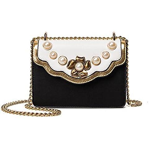 Pequeño hombro bolso de la mujer/ bolsa de perlas vintage/ bolsa de la cadena diagonal