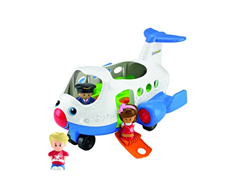 Little People-spielzeug-bus (Mattel BJT56 - Fisher-Price Little People Flugzeug, inklusive 3 Figuren)