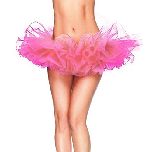 GTKC Frauen Führen Tanz Kleid Prinzessin Tutu Petticoat Flauschige Ballett Rock Pink