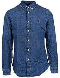 47c65874b83 Ralph Lauren Homme 710548539001 Bleu Coton Chemise