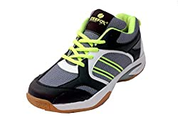 Zeefox Flick Mens (Non--Marking) PU Badminton Shoes (Grey) (10)