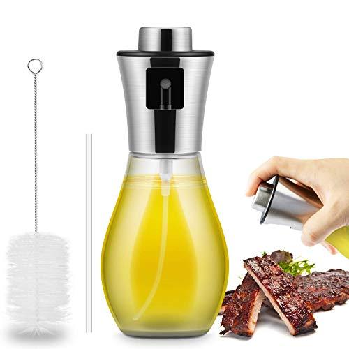 Queta Öl Sprüher Flasche, 200ML Olivenöl, Essig, Saft Sprühflasche zum Grillen im Freien Kochen Salate Glas öl Spray Sprüher