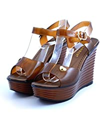 CafèNoir - Sandalias de vestir para mujer marrón marrón