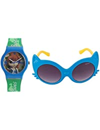 Fantasy World Blue Watch And Blue Sunglass Combo For Boys And Girls