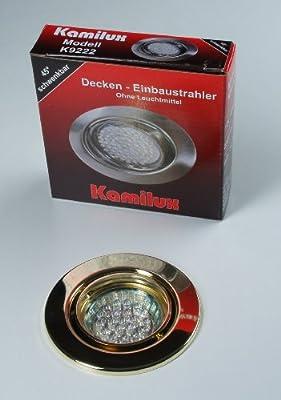 2 x LED Einbauleuchte 20er LED-Spot Tom gold 230V Warmweiss von Kamilux GmbH auf Lampenhans.de