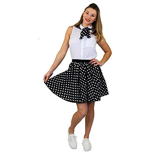 I love Fancy Dress ilfd7014ps Damen Kurz Polka Dot Rock Länge–43,2cm lang/UK (Dot Kostüm Tanz Polka)