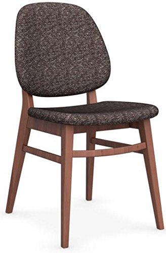 calligaris set 2 sedia colette cs/1491 sedia imbottita per casa in ... - Sedia Rivestimento Tessuto Caffe