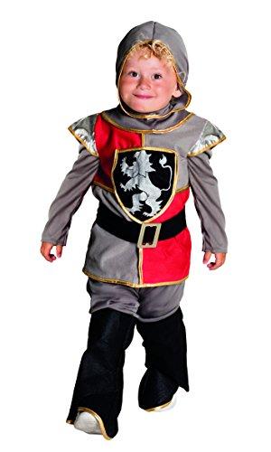 Boland- Cavaliere Medievale Lord Templeton Costume Bambino, Colore Grigio/Rosso, 3-4 Anni, 82239