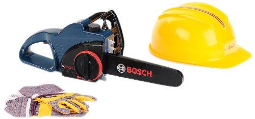 Theo Klein 8253 Bosch Sierra De Cadena Con Casco Y Guantes Protectore