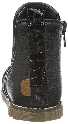 MOVE Chelseaboot Mädchen, Chaussures Marche Bébé Fille Noir - Schwarz (BLACK Patent933)