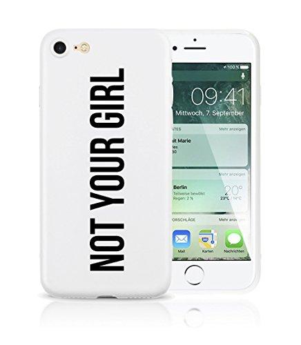iPhone 7 Plus / iPhone 8 Plus Hülle AVANA® ultra dünne Schutzhülle flexibles & federleichtes Case Etui schwarze Apple Handyhülle Tasche Silikon Cover extra Kameraschutz (YOUR LOSS, BABE. black) NOT YOUR GIRL white