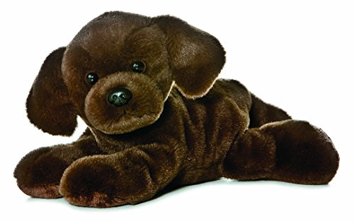 Aurora World Mini Flopsie Lil Lucky Chocolate Labrador Plush Toy (Brown)