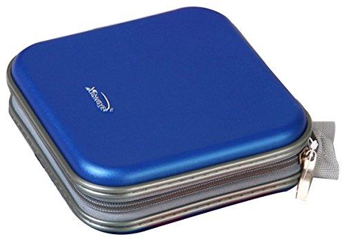 Preisvergleich Produktbild 40 fach CD DVD Aufbewahrungstasche DV Box CD Wallet DVD Wallet 5 Farben (Blau)