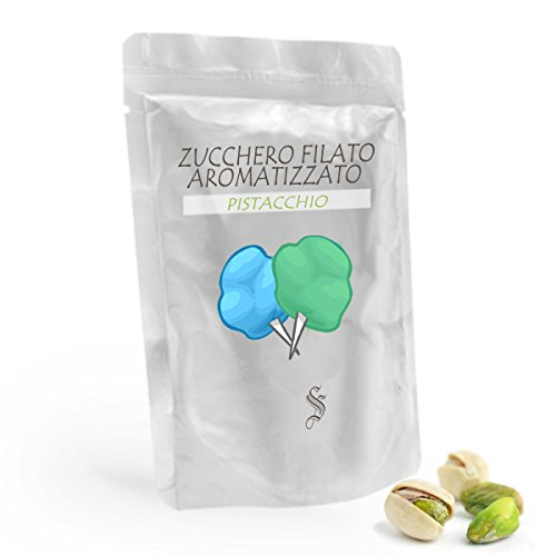 Zucchero Aromatizzato al piastacchio - verde - da 500 gr