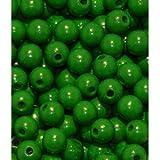 50 Holzperlen 10mm grün speichelfest & schweißecht Made in Germany