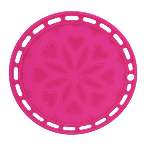 EJY Simple Anti-Slip sous-Verres Pad Isolation Thermique Table Tapis Maison Décoration(Rose Rouge)